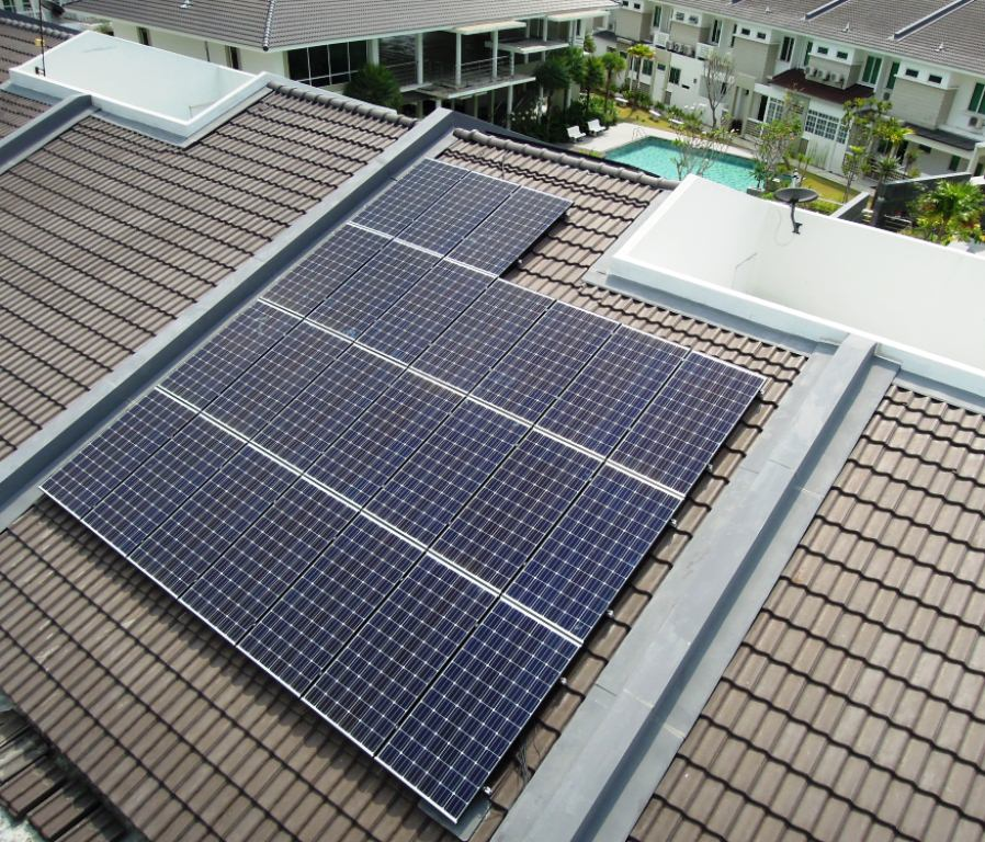 Solar Roof Residential Sathu Residence Penang 12kW