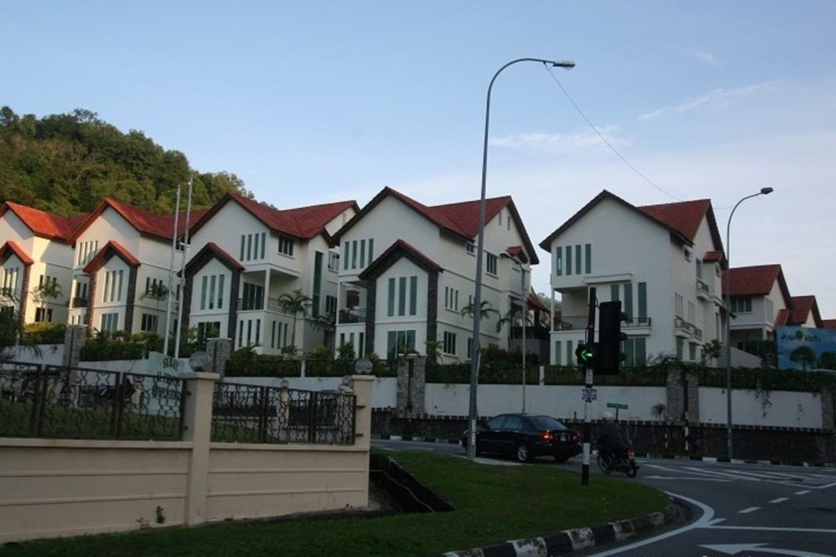 Roof Romane Clay Roof Tropical Tone Asia Hill Villas Housing Neighborhood Penang