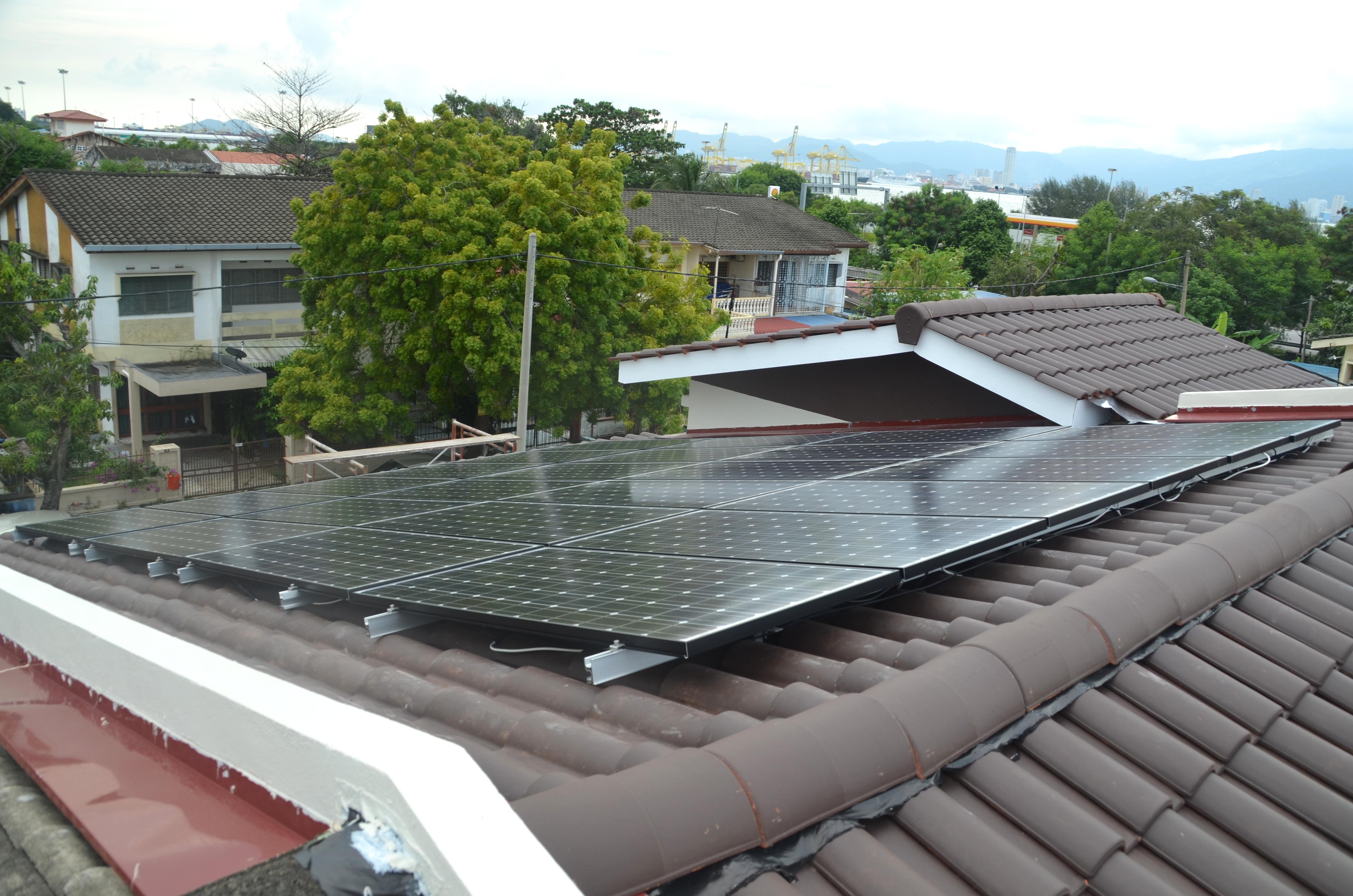 Solar Roof Residence Bagan Ajam Penang 12kW