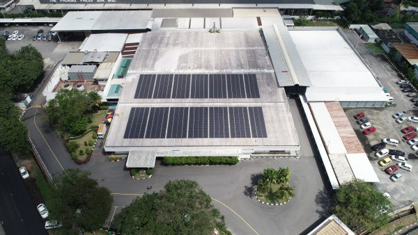 Solar Roof Industrial Factory Canon Perai Penang 228kW