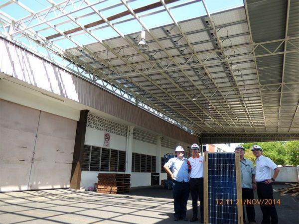 Solar BIPV Chap Seng Warehouse Mak Mandin Penang 72kW