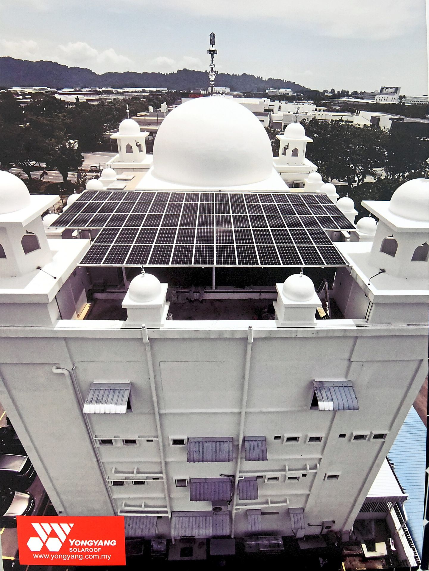 Yongyang Solaroof partners Gurdwara Penang to turn to solar power to save cost. 18KW, Bayan Lepas, Penang