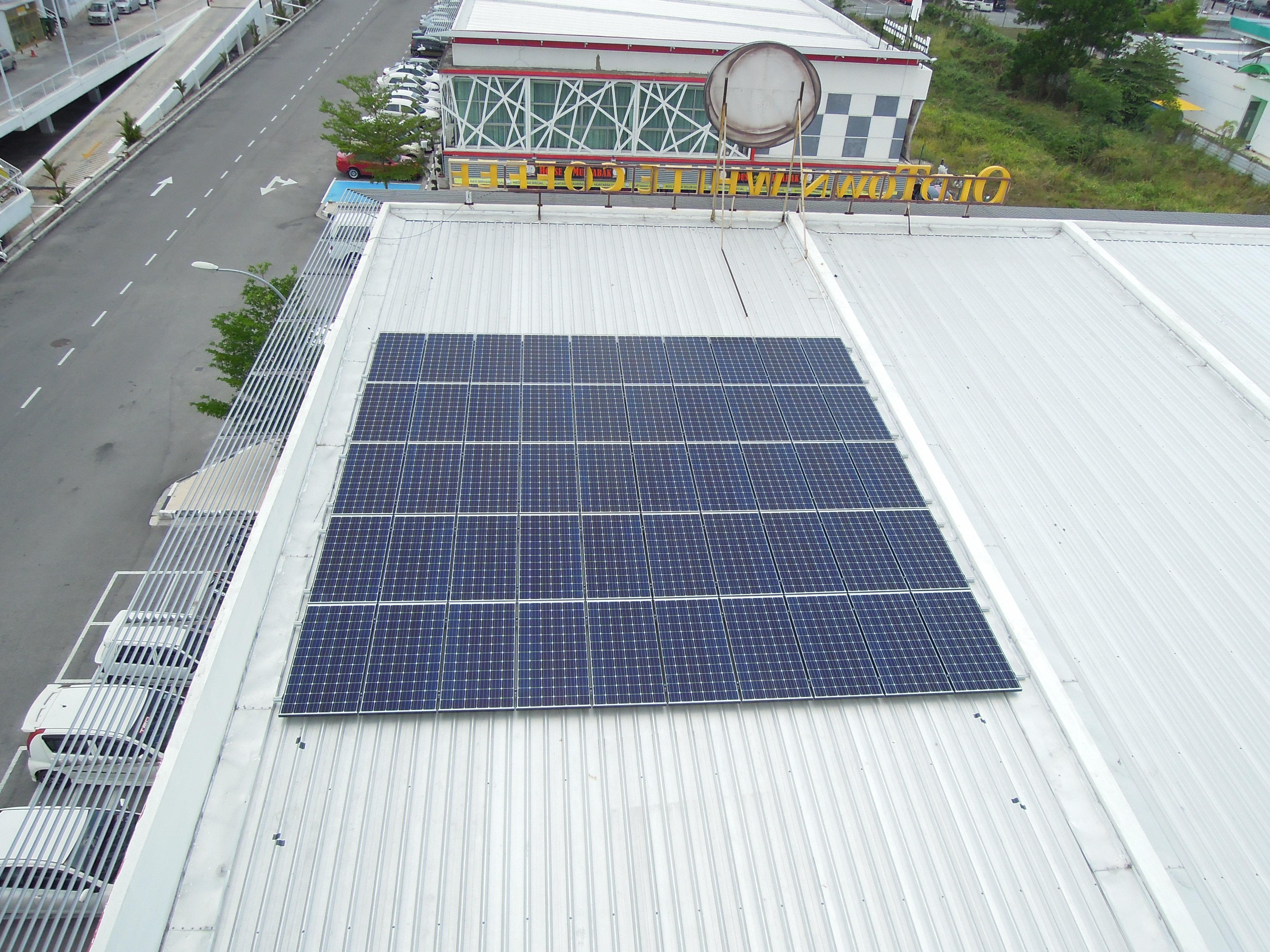 Solar PV Oldtown Restaurant Bertam Penang 12kW