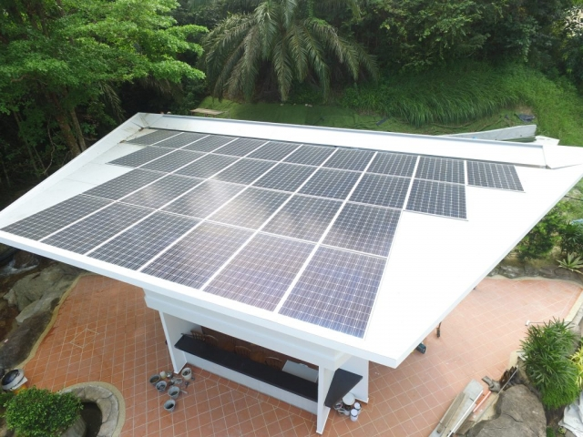 Solar Roof Private Club House Nibong Tebal Penang 12kW