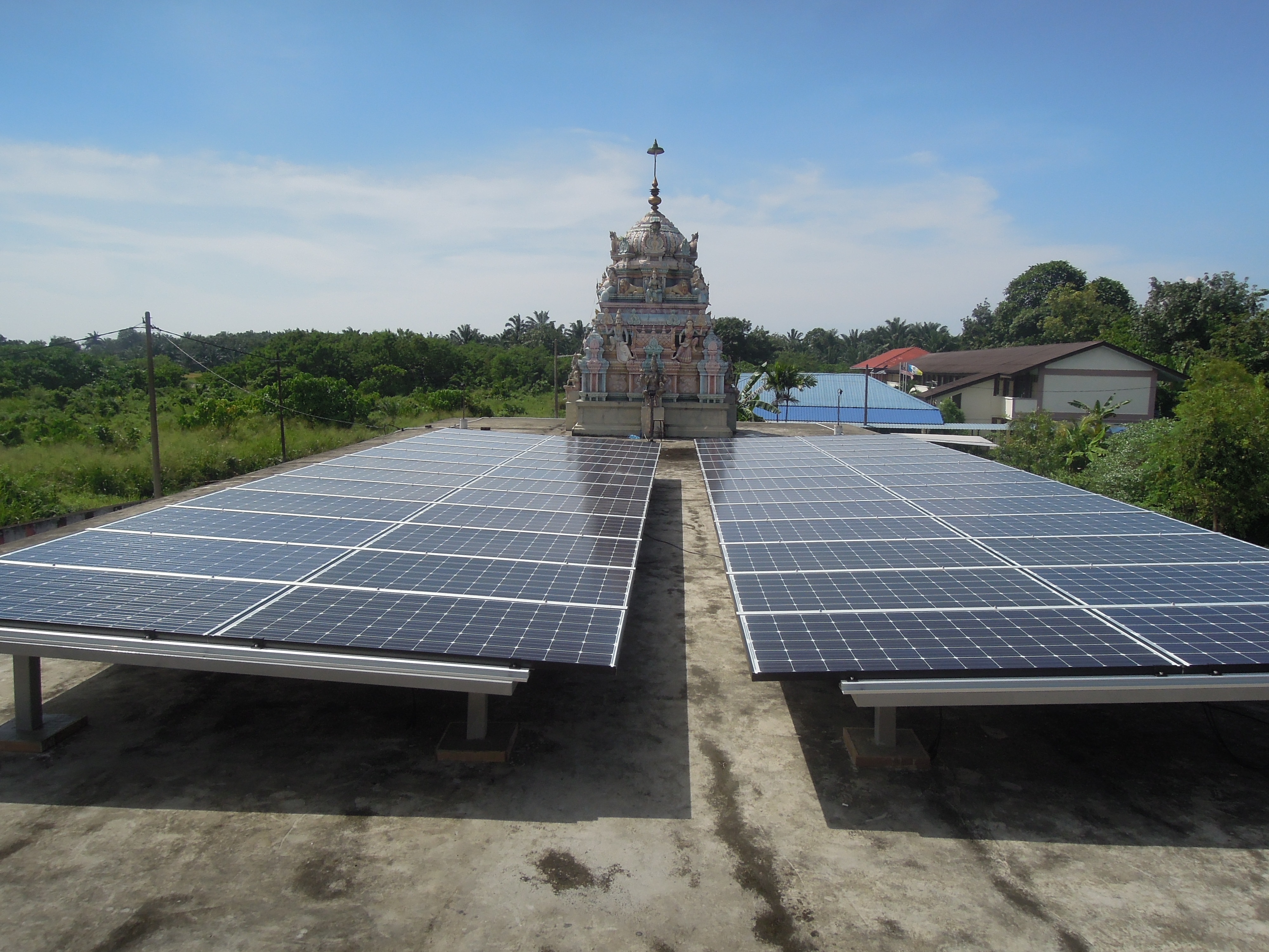 Solar PV Roof Community Indian Temple Nibong Tebal Penang 12kW
