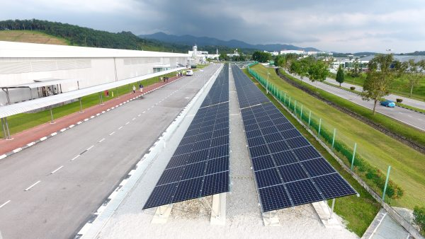 Solar PV Ground Mounted Sky View Panasonic Factory Kulim Kedah 1MW