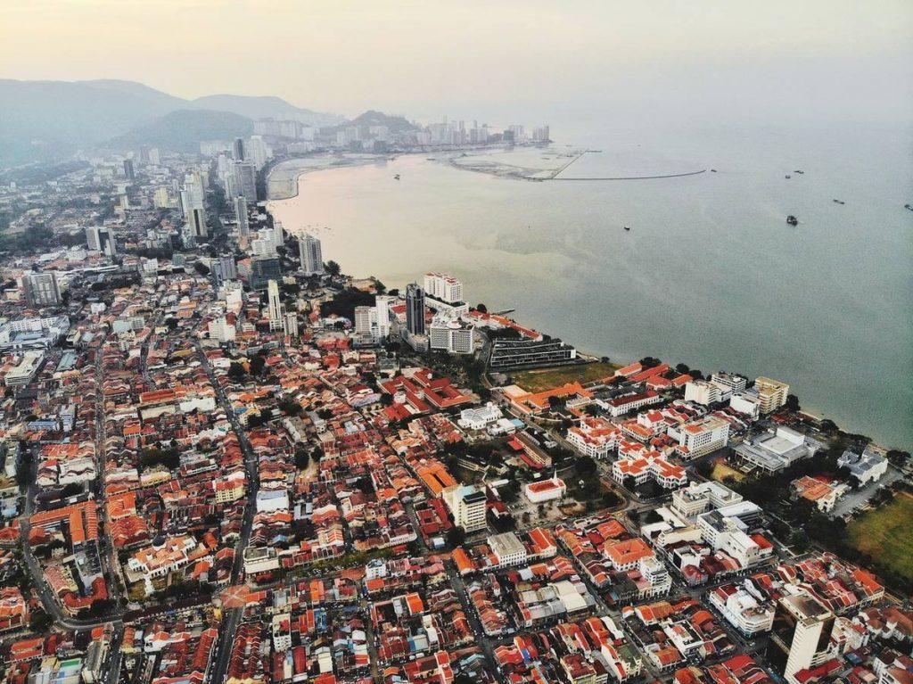Penang City Drone View