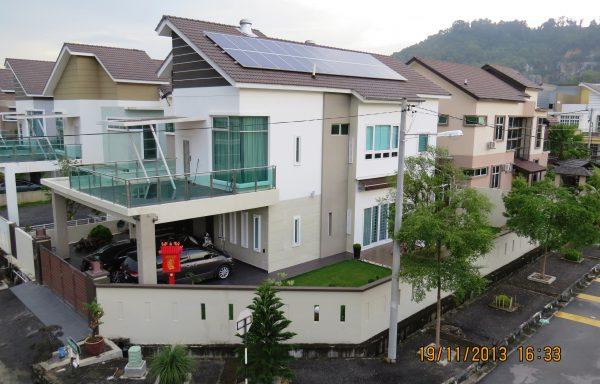 Solar Roof Residence Juru Villa Penang 12kW