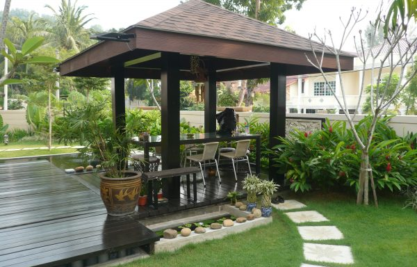 Roof Shingle with Timber Decking Pagola Minden Height Penang
