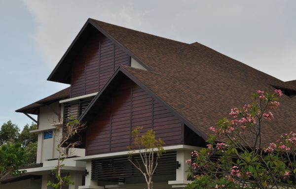 Roof Shingle Beautiful Malay House Side View Sungai Nibong Penang