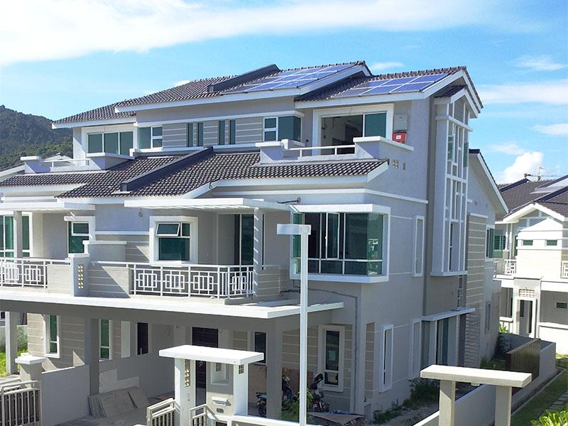 Solar BIPV Dua Villa Bayan Lepas Penang