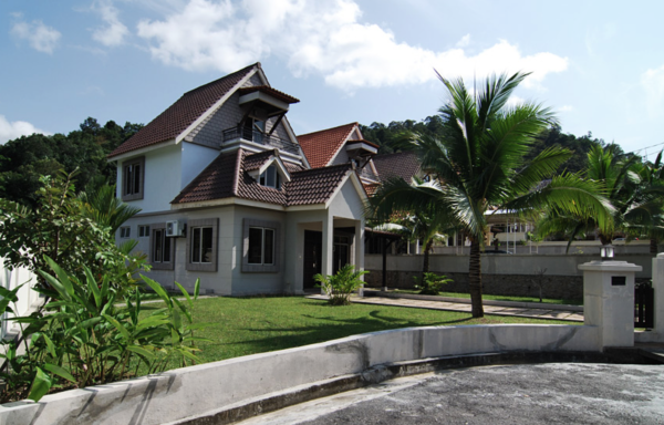 Roof Terreal Clay Roof Ferringhi Villa Housing Neighborhood Penang