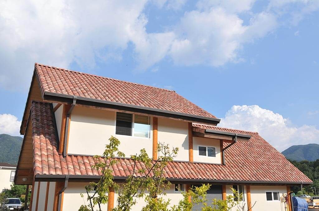 Residential with Clay Roof Tiles