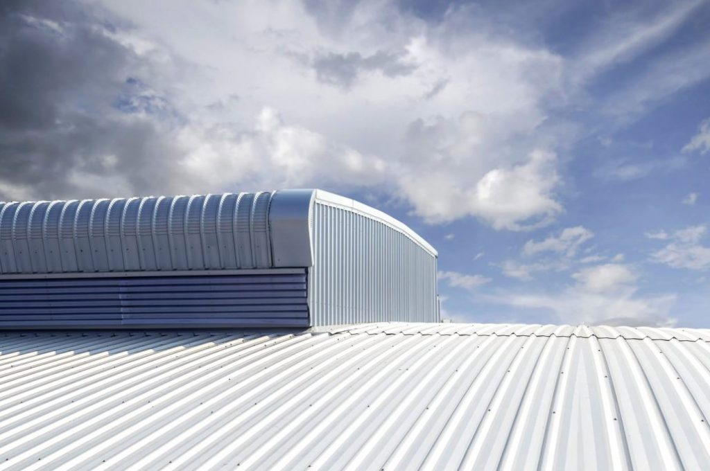 Metal Roof on Factory Building